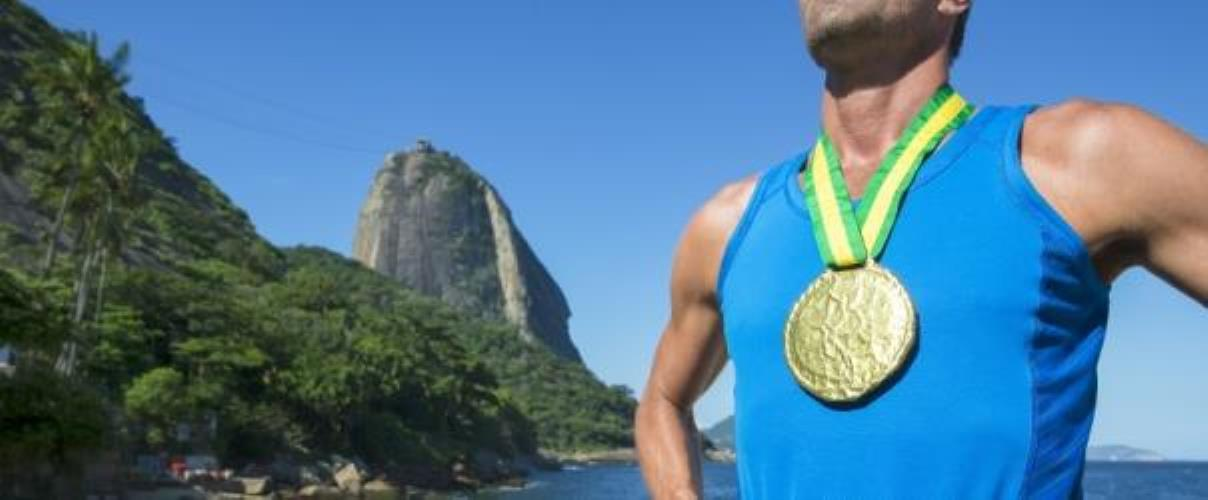 Athlet mit Goldmedaille in Rio